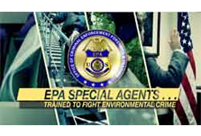 screen shot of EPA Special Agents Video