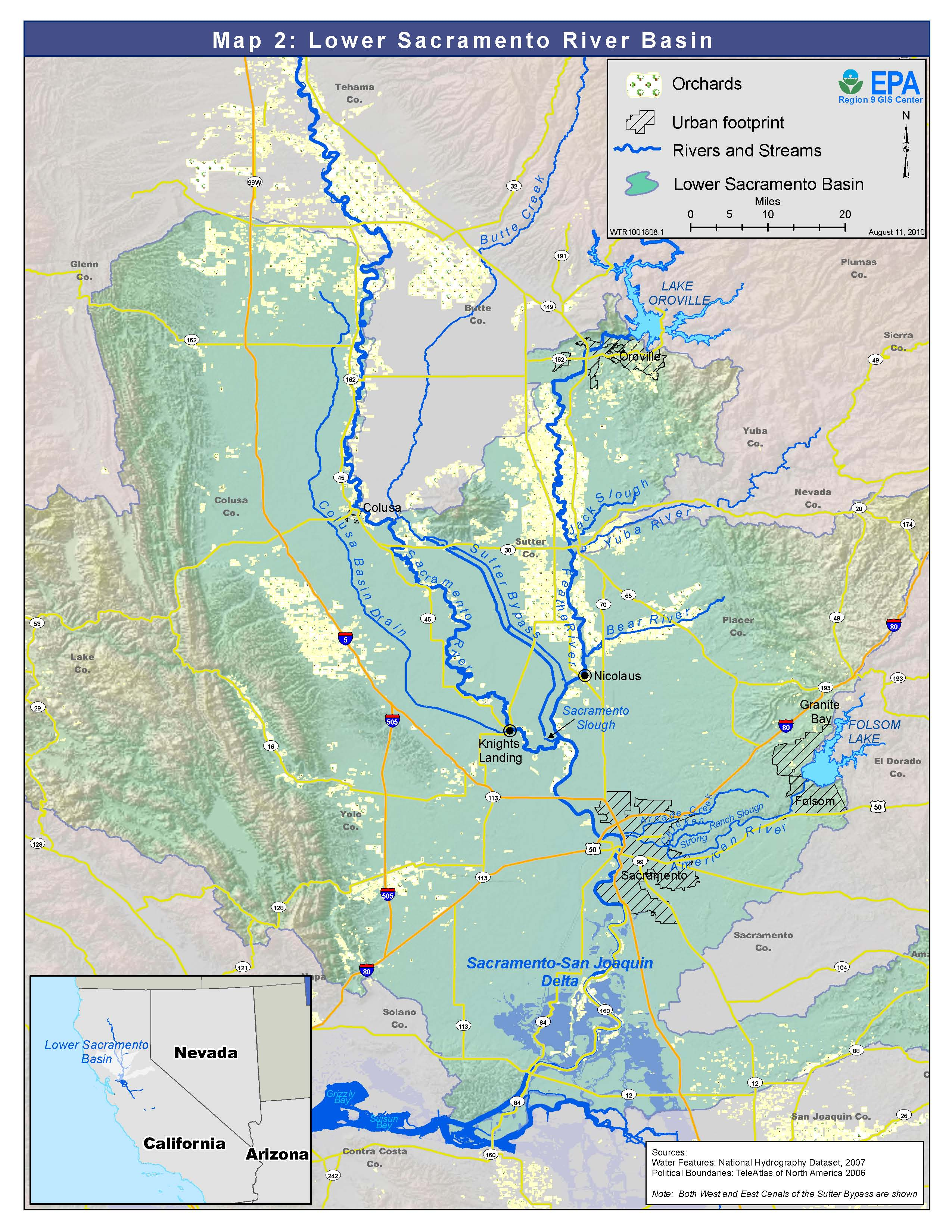 Feather And Sacramento Rivers Watersheds San Francisco Bay Delta - Rivers in the us map