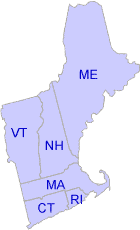 Map of EPA Region 1