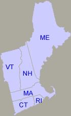 Map of EPA Region 1