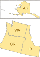 Map of EPA Region 10