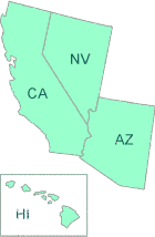 Map of EPA Region 9