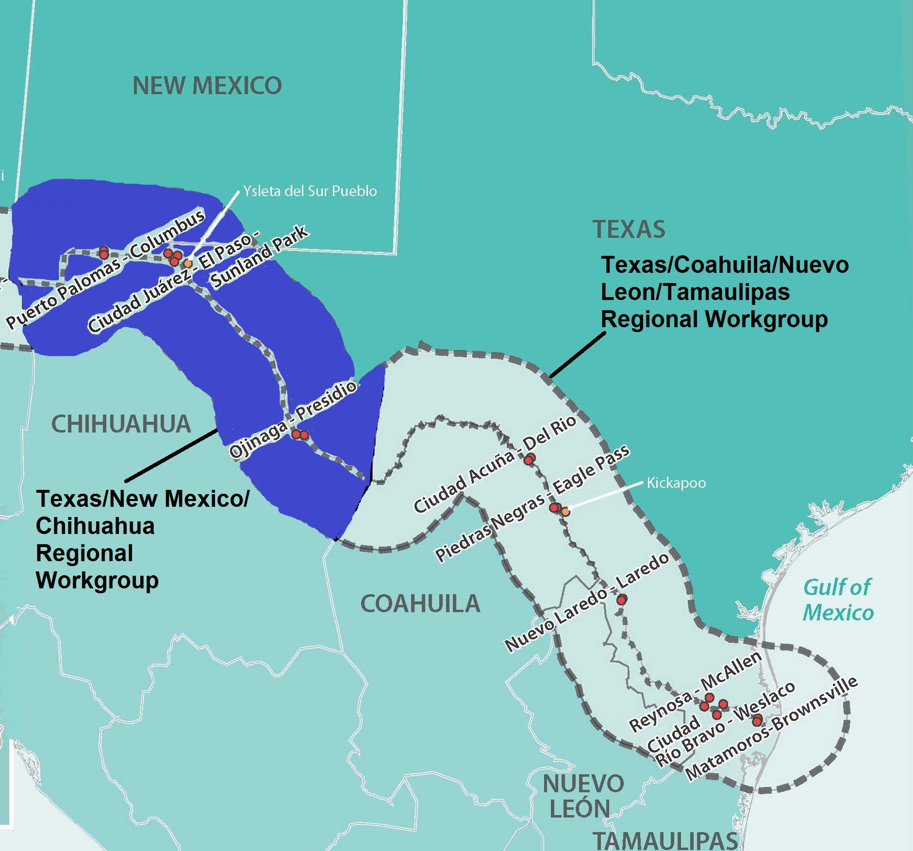 Region 6 Regional Workgroup Contacts | U S -Mexico Border