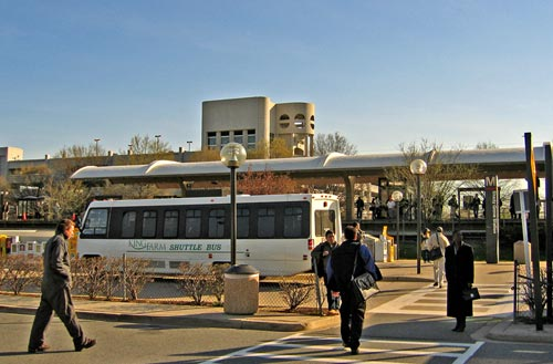 A Shuttle Bus Serves The Metro Station Near King Farm. Nearby Apartment  Residents Can Walk, While Those Living Further Away Use The Shuttle.