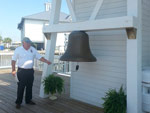 New Canal Lighthouse. John Kinabrew, the tour guide, rang the Lighthouse's bell