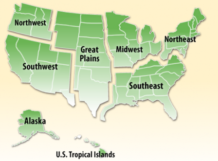 Find Information About Your Beach Beaches US EPA - 4 regions of us map