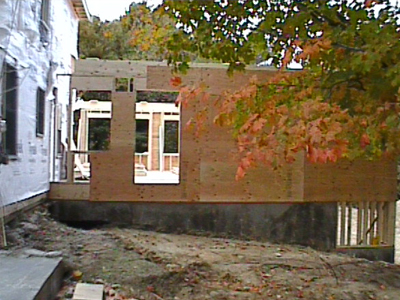 Photo of foundation regrading to move water awar from the house
