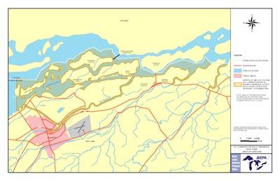 St Lawrence River Aoc Boundary Map
