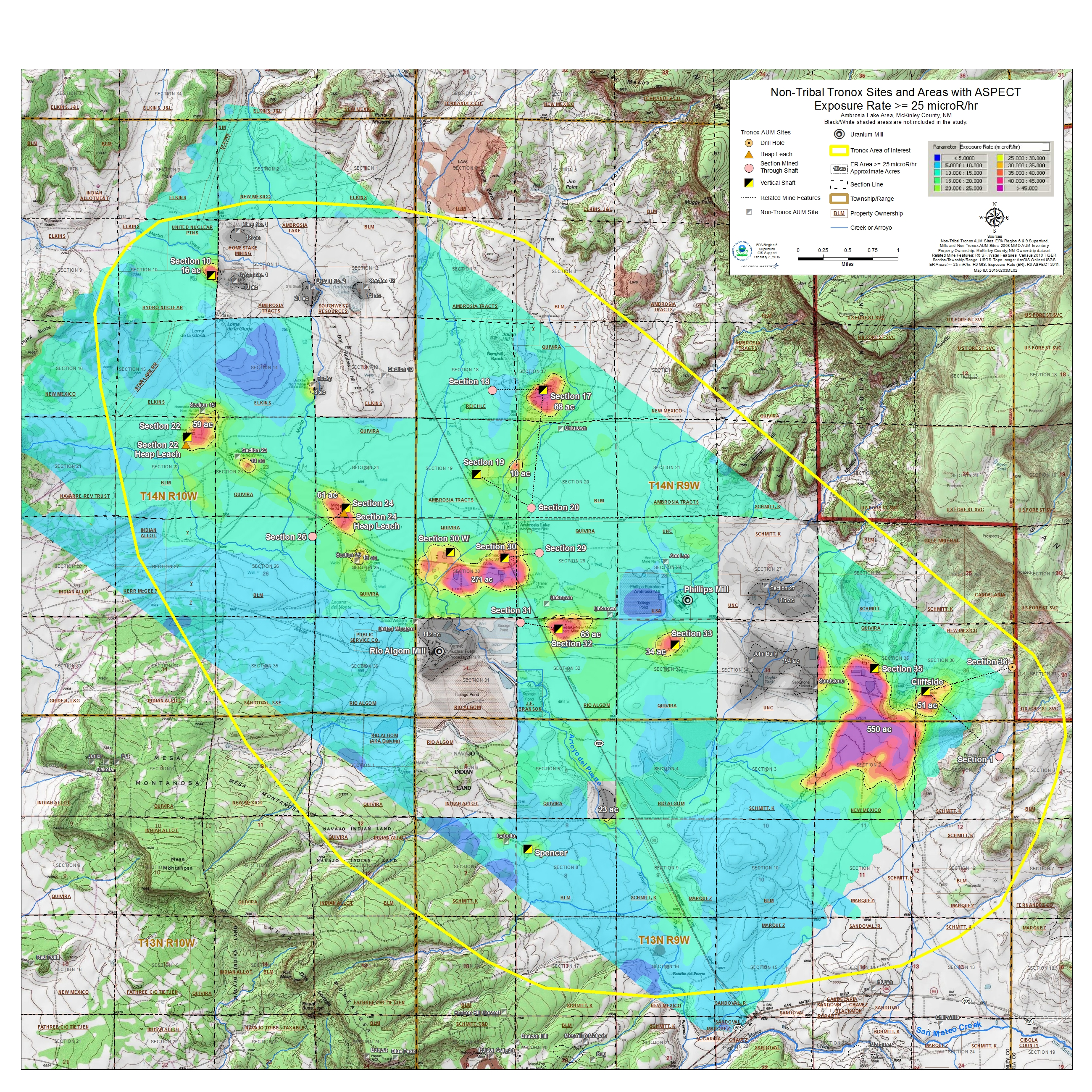 Results Of Aerial Surveys Of Gamma Radiation Around Ambrosia Lake - Us radiation map