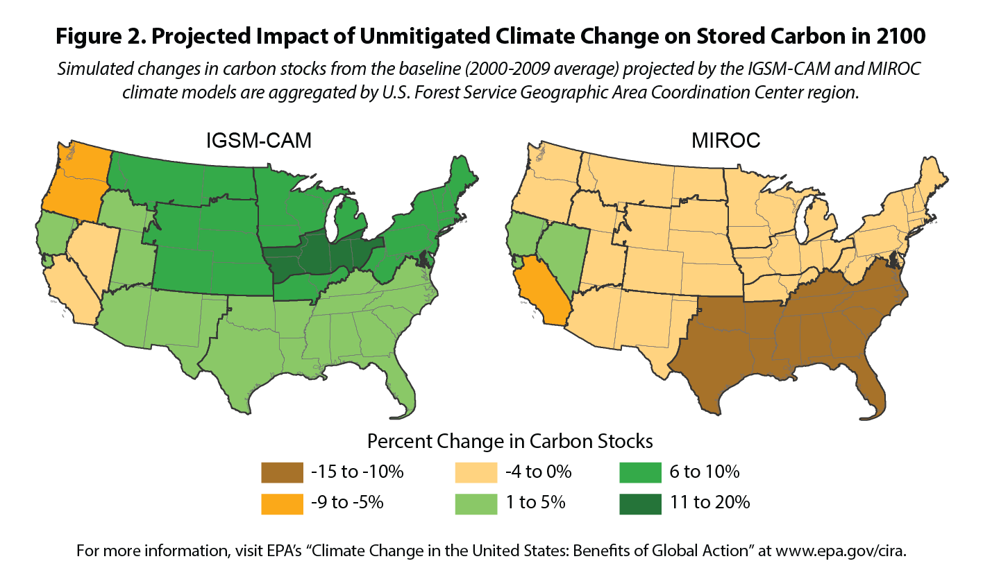 Climate Action Benefits Carbon Storage Climate Change In The - Map of us forest regions