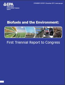Cover of the Biofuels and the Enviroment: First Triennial Report to Congress