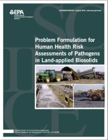 Cover of the Land-Applied Biosolids 2011 Final Report