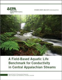 Cover of the Field-Based Aquatic Life Benchmark for Conductivity Final Report