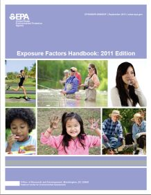 Cover of the Exposure Factors Handbook: 2011 Edition