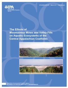 Cover of the Mountaintop Mines and Valley Fills Central Appalachian Coalfields Final Report