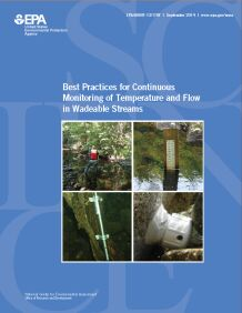 Cover of the best practices for continuous monitoring of temperature and flow in wadeable streams final report