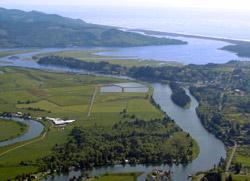 ariel photo of an estuary