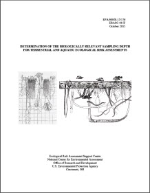 Cover of the final report, Determination of the Biologically Relevant Sampling Depth for Terrestrial and Aquatic Ecological Risk Assessment