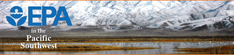 Panorama of snow covered mountains in background with wetlands and migratory birds