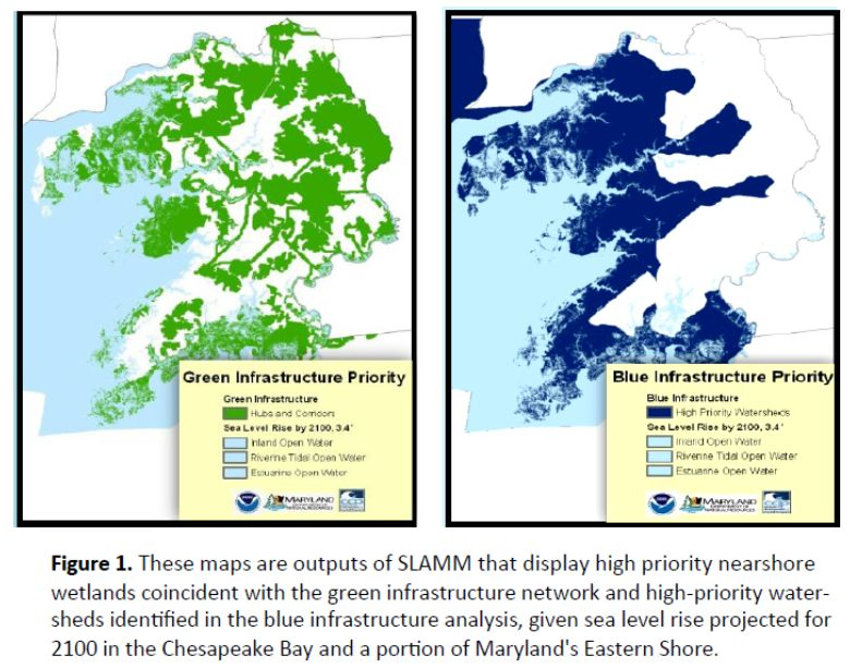 high priority conservation areas identified from the slamm ysis