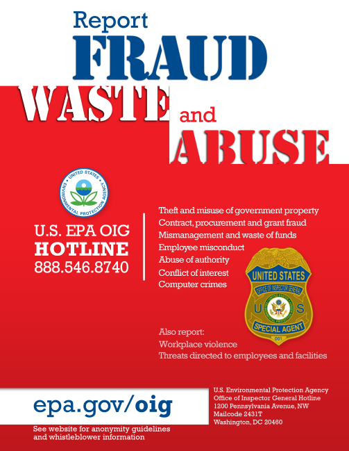 EPA OIG Hotline | EPA's Office of Inspector General | US EPA