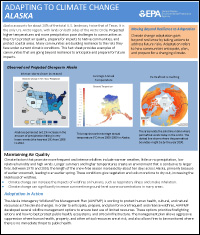 Cover of Alaska Region Factsheet: Adapting to Climate Change