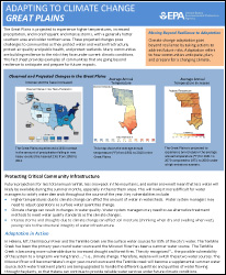 Cover of Great Plains Region Factsheet: Adapting to Climate Change