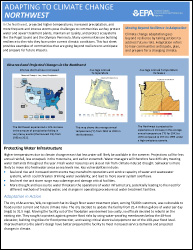 Cover of Northwest Region Factsheet: Adapting to Climate Change