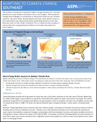 Cover of Southeast Region Factsheet: Adapting to Climate Change