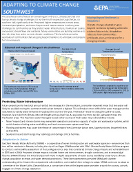 Cover of Southwest Region Factsheet: Adapting to Climate Change