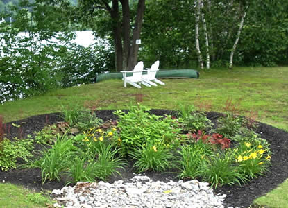 Rain garden in Leominster, MA (Photo Credit - MA Watershed Coalition)