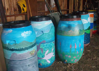 Rain Barrels, Winooski, Vermont (Photo Credit - Winooski Natural Resources Conservation District)