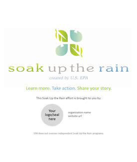 Soak Up the Rain Customizable Banner