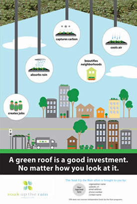 Soak Up the Rain Customizable Green Roof - Good Investment Poster