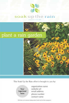 Soak Up the Rain Customizable Rain Garden Poster