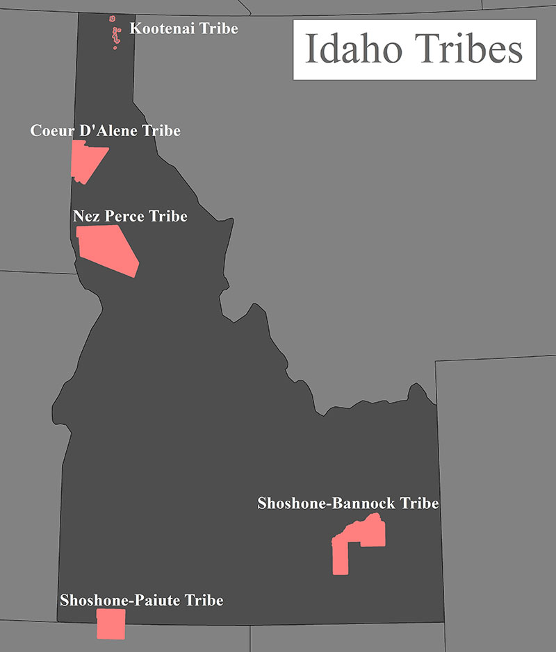 Shoshone Idaho Map.Idaho Tribal Fish Consumption Survey Columbia River Us Epa