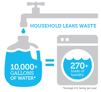 WaterSense Household Leaks Infographic