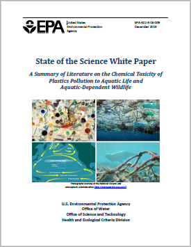 "Cover of the report ""State of the Science White Paper: A Summary of the Effects of Plastics"""