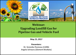 Using Landfill Gas as Vehicle Fuel Webinar Image