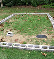 Septic Tank covered with grass