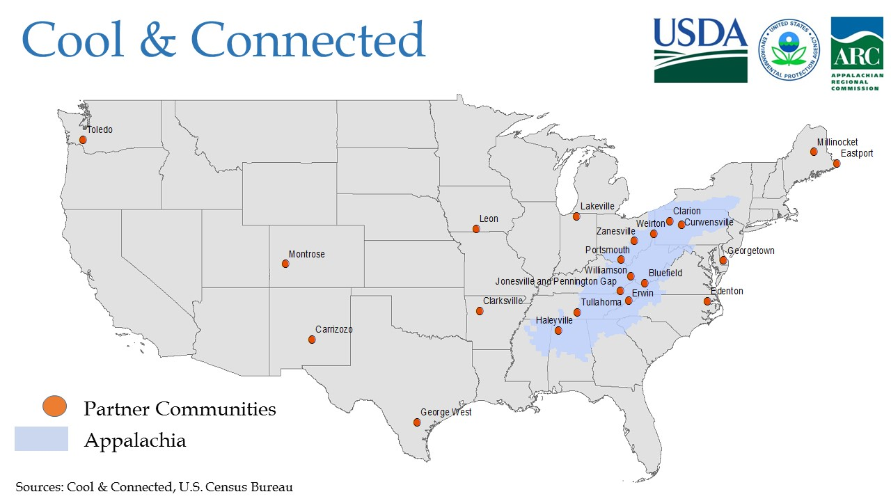 Cool And Connected Partner Communities Shown On A Map