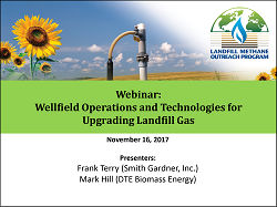 Wellfield Operations and Technologies for Upgrading LFG Webinar Image
