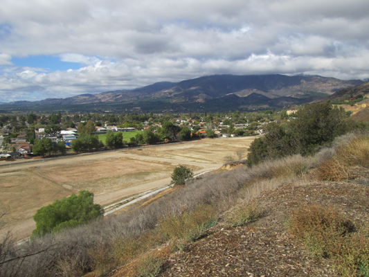 View of former refinery after soil cleanup in Fillmore, California