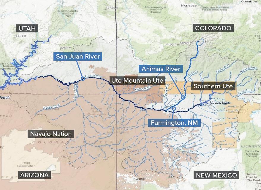 San Juan River Utah Map.Basic Information About The San Juan Watershed San Juan Watershed