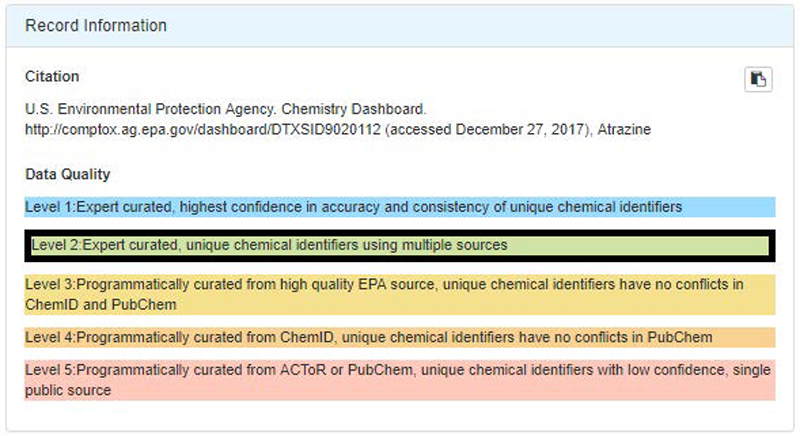 Chemistry Dashboard Help: Chemical Search | Safer Chemicals