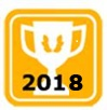 "Trophy Icon with ""2018"""