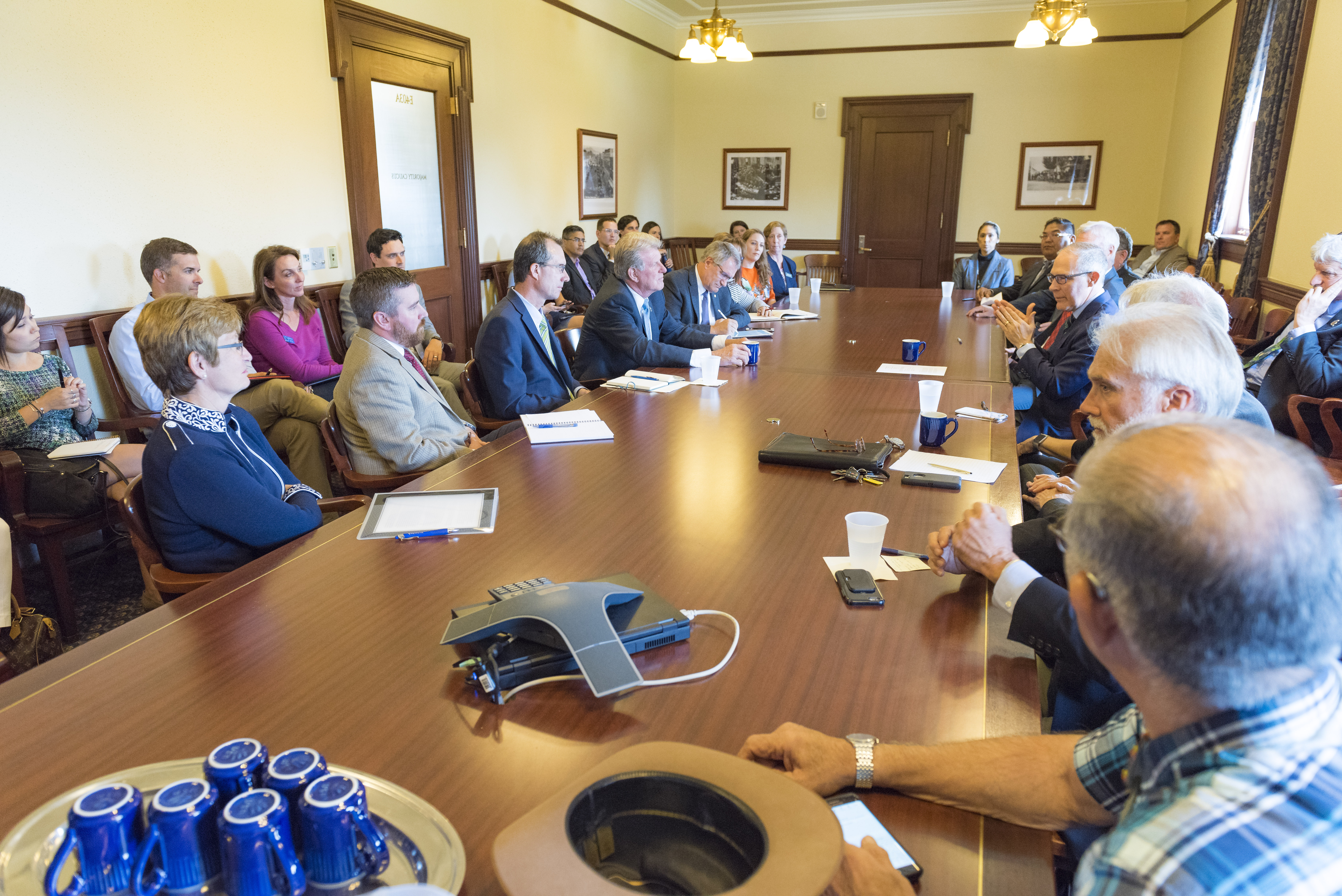 Administrator Pruitt Signs Delegation Memorandum Approving Idahos - Conference table signs