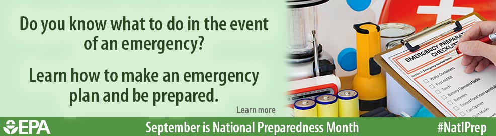 Do you know what to do in the event of an emergency? Learm how to make an emergency plan and be prepared. Learn more. September is National Preparedness Month. #natlprep