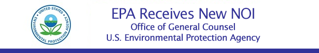 EPA Receives New NOI message header and EPA seal