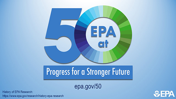 History of EPA Research: https://www.epa.gov/research/history-epa-research. EPA.gov/50. EPA at 50 logo.